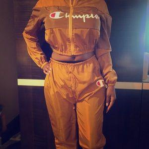 Champion style pants set